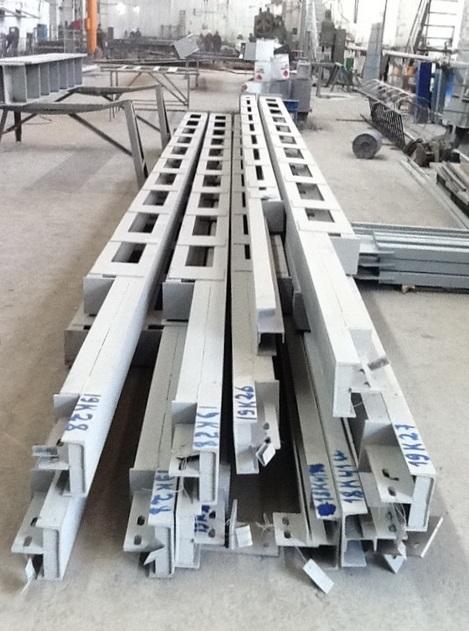 Изготовление и монтаж фахверковой колонны